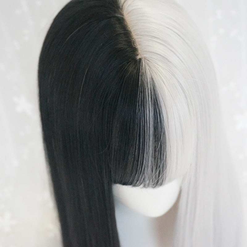 Black and white wig DB3109