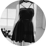 Punk dark dress DB2057