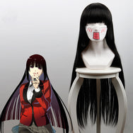 Jabami Yumeko COS black long straight hair    DB5555