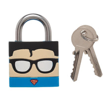 Load image into Gallery viewer, DC Comics Superman Face Large Padlock 2 Key