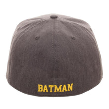 Load image into Gallery viewer, Embroidered Batman Logo Flatbill Flex Cap - Baseball Cap / Snapback