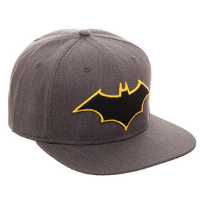 Embroidered Batman Logo Flatbill Flex Cap - Baseball Cap / Snapback