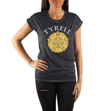 Load image into Gallery viewer, Game of Thrones House Tyrell Golden Rose Crew Neck Rolled Sleeve T Shirt
