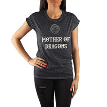 Load image into Gallery viewer, Game of Thrones Mother of Dragons Crew Neck Rolled Sleeve T Shirt