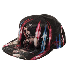 Load image into Gallery viewer, Harley Quinn Velvet Snapback Hat
