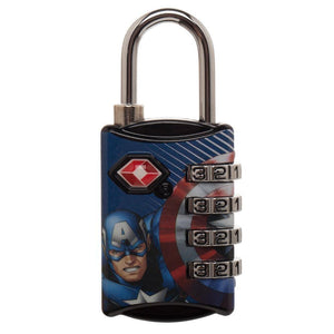 Marvel Comics Captain America TSA Approved Travel Combination Luggage Lock for Suitcase Baggage