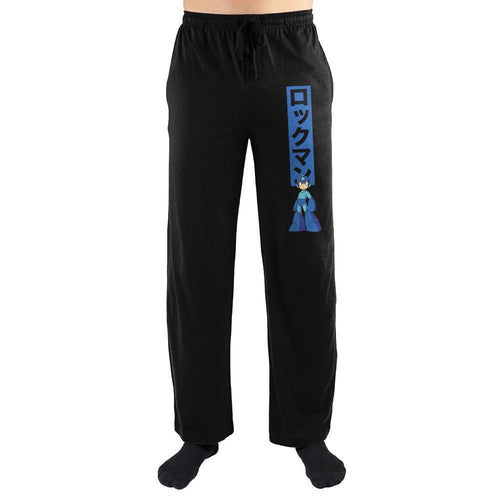 Mega Man Power Up Kanji Text Sleep Pants