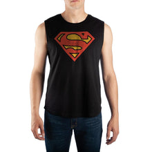 Load image into Gallery viewer, Mens Superman Muscle Shirt DC Comics Mens Shirt