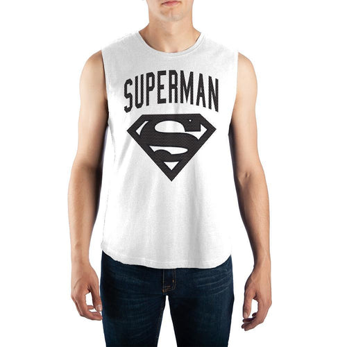 Superman Muscle Tank Mens Sleeveless DC Comics Shirt