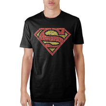 Load image into Gallery viewer, Superman Text Logo Mens' Black T-Shirt