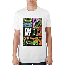 Load image into Gallery viewer, Teenage Mutant Ninja Turtles Grid White T-Shirt
