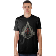 Load image into Gallery viewer, The Century Struggle Assassins Creek Syndicate Logo Black Men's T-Shirt
