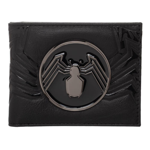 Venom Spider Logo Bifold Wallet For Men