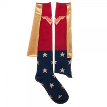 Load image into Gallery viewer, Wonder Woman Movie Caped Juniors Knee High Socks