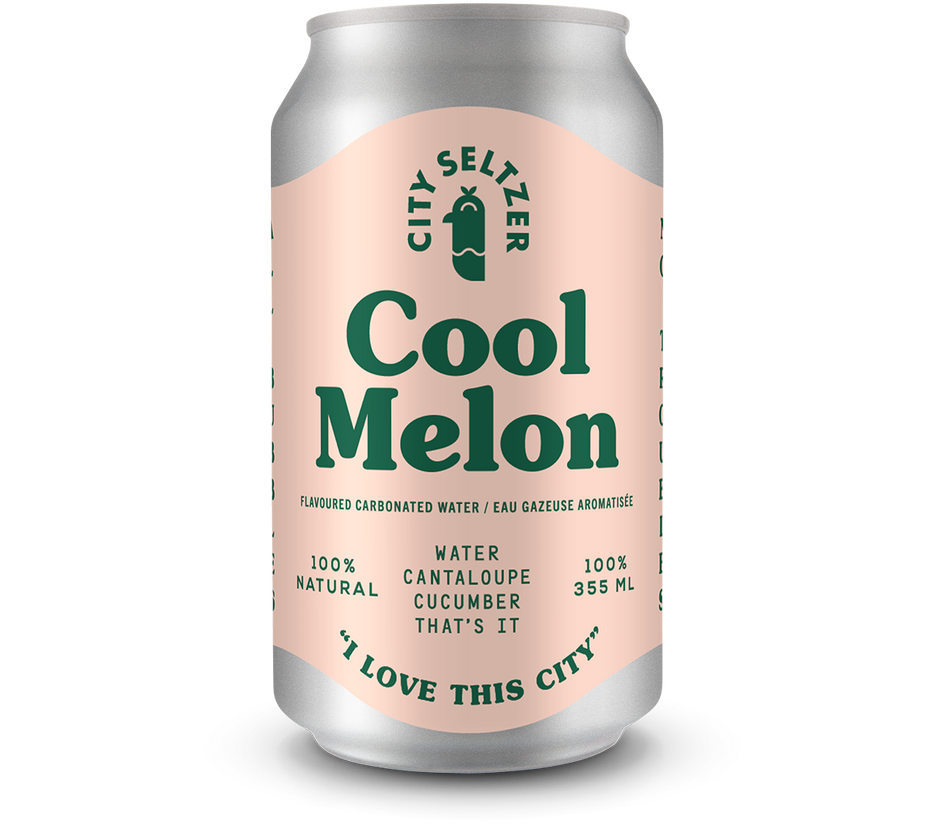 City Seltzer - Cool Melon 6-pack