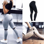 Mesh Patchwork High Waist Leggings