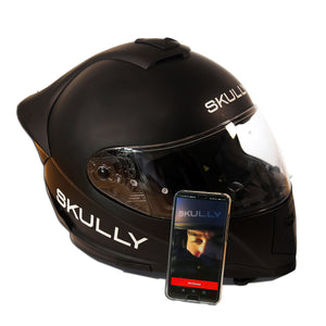 skully fenix ar carbon rear camera smart helmet app ios android