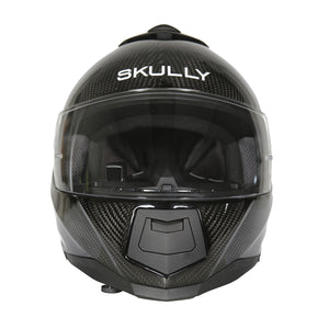 skully fenix ar carbon rear camera smart helmet front
