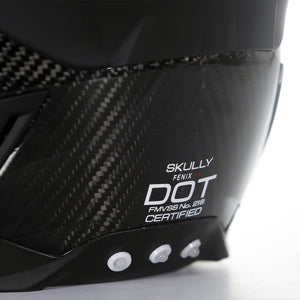 skully fenix ar carbon rear camera smart helmet dot