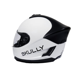 skully fenix ar white camera smart helmet back