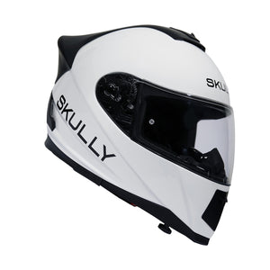 skully fenix ar white camera smart helmet carbon