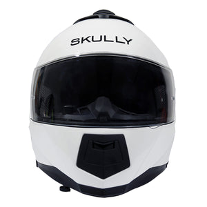 skully fenix ar white camera smart helmet front