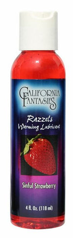 Buy now Razzels Sinful Strawberry Lube 4 fl oz Lube Warming