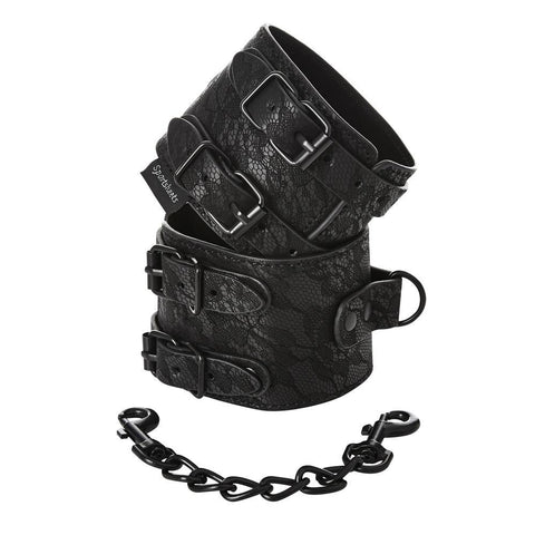 Buy now Sincerely, Sprotsheets Lace Double Strap Handcuffs Sportsheets
