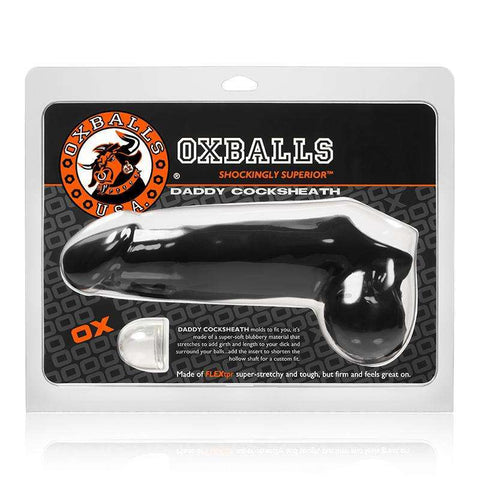 Sex Toys OxBalls Penis SLeeve Daddy Cocksheath, Black Sex Toys Men Penis Extension buy now