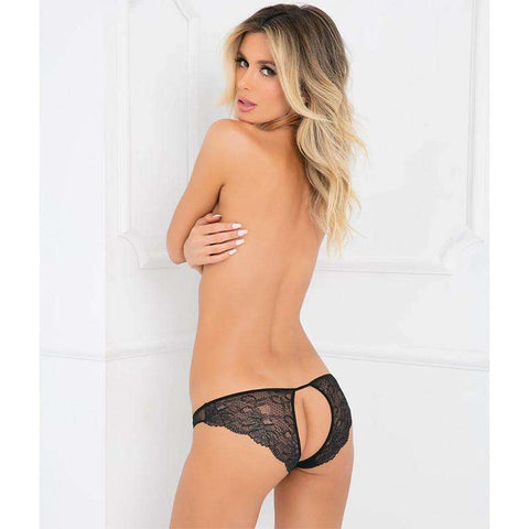 Sex Toys Pure Nv Crotchless Panty Black S/M Rene Rofe buy now