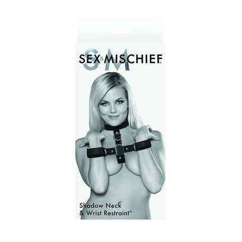 Sex Toys S&M Shadow Neck and Wrist Restraint fetish Sportsheets buy now