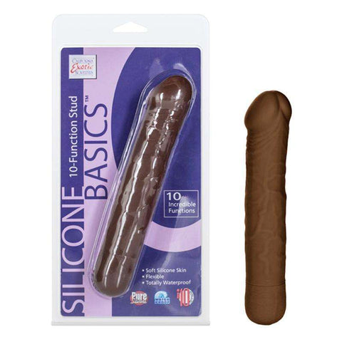 Sex Toys Silicone Basics 10-Function Stud Brown California Exotic buy now