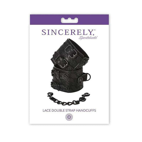 Sex Toys Sincerely, Sprotsheets Lace Double Strap Handcuffs Sportsheets buy now