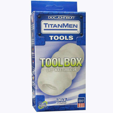 Sex Toys TitanMen Tool Box Clear Doc Johnson Masturbating Pocket Pal Stroker buy now