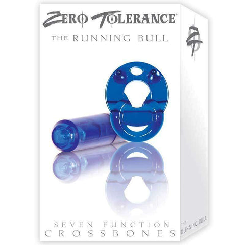 Sex Toys Zero Tollerence Running Bull Vib Cock Ring Blue Evolved Men Vibrating cock ring buy now