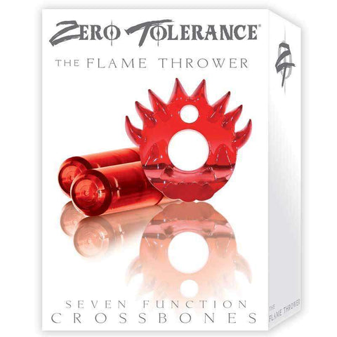 Sex Toys ZT Flame Thrower VibratorCock Ring Red w/2 Evolved Men Vibrating Cock Rings buy now