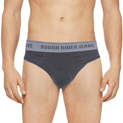 RRJ Men's Basic Hipster Brief Inner Wear 10908 (Gray)
