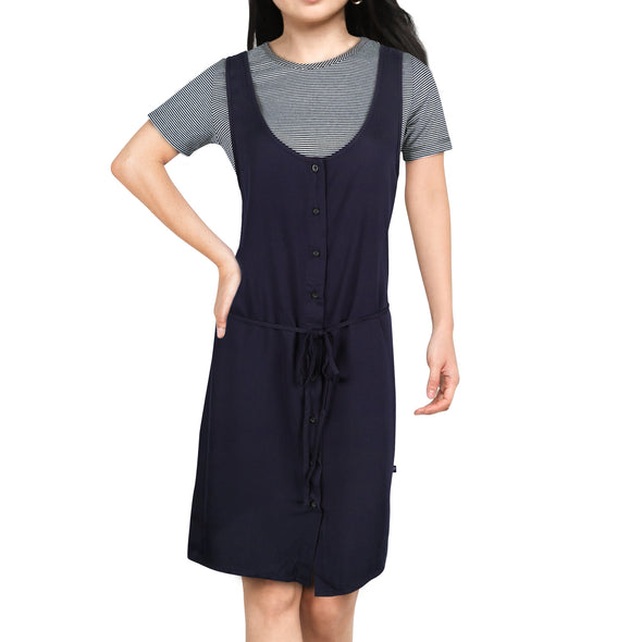 RRJ Ladies Modified Dress Semi Loose Fit 14709 (Medieval Blue/White)