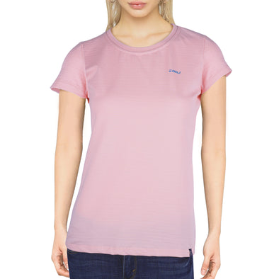 RRJ Ladies Basic 3x1 Missed Lycra Regular Fit Tees 15897 (Blush Pink)