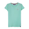RRJ Ladies Basic 3x1 Missed Lycra Regular Fit Tees 15897 (Light Blue)