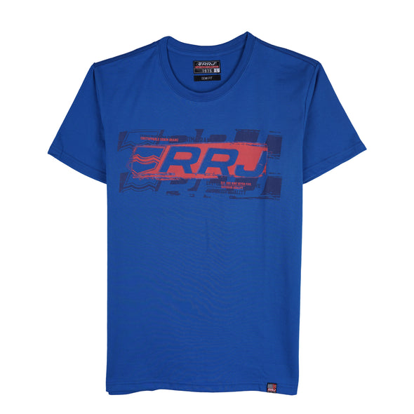 RRJ Men Basic Tees Semi Body Fit 16744-U (Imperial Blue)