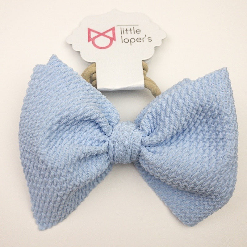 Little Lopers Baby Blue Skinny Bow (One Size)