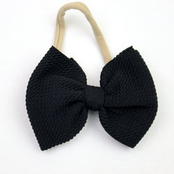 Little Lopers Black Skinny Bow (One Size)