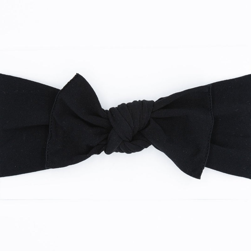 Knot Bow, Black (0 - 6 months)