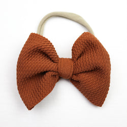 Little Lopers Caramel Skinny Bow (One Size)