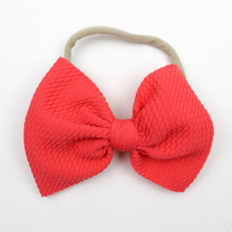 Little Lopers Coral Skinny Bow (One Size)