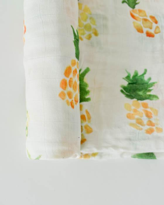 little unicorn pineapple swaddle