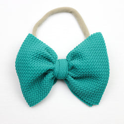 Little Lopers Emerald Skinny Bow (One Size)