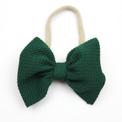 Little Lopers Evergreen Skinny Bow (One Size)