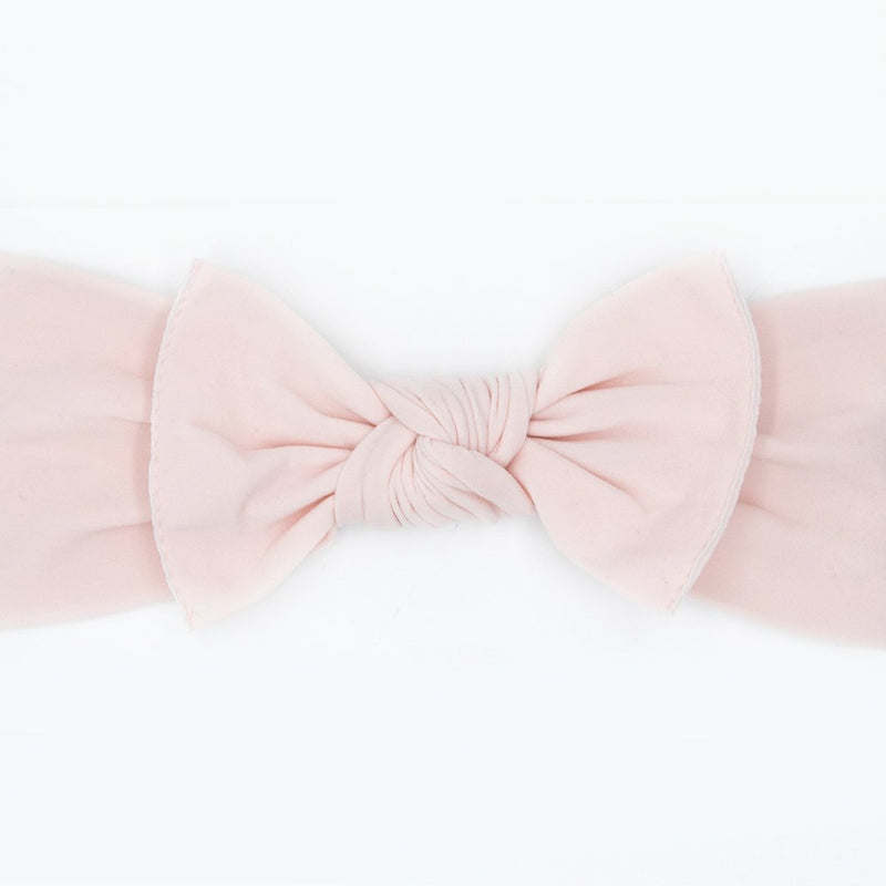 light pink baby bow